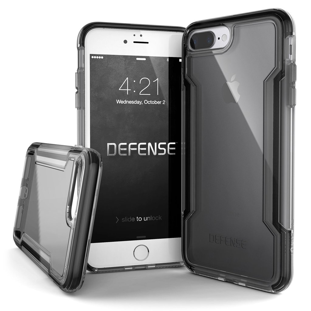 X-DORIA IPHONE 8 PLUS / 7 PLUS CASE DEFENSE CLEAR BLACK